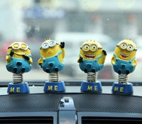 Wholesale HOT Minions movie Action Figure toys Despicable Me sets Automobiles Interior Accessories Minion Decorations Dolls for cars Decor