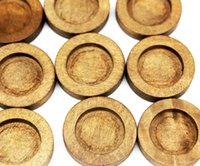 antique wooden tray - 250pcs natural wood settings tray size mm wood bezel blanks new choice for pendant Antique Round Wooden Cameo