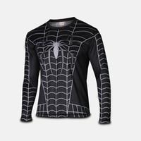 aeropostale - 2015 new men t shirt spider man long sleeve t shirt men s clothing cycling jerseys Superhero Movie t shirts ZSH02