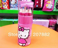 Wholesale Sets Hot Sale Hello Kitty Children Colored Pencil Cartoon Colors Pencil For Kids A2638