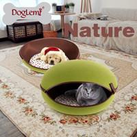 Wholesale DogLemi Nature Egg Shape Cozy Pet Cave Dog Puppy Cat Kennel House Bed colors available