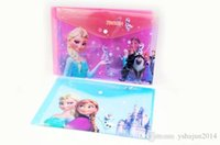 Wholesale Hot Sale student paper bags creative stationery cute cartoon buckle bag ice and snow Romance a4 document folder