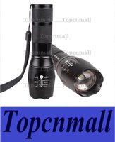 Wholesale Lumens CREE XML Q5 LED Zoomable Flashlight Torch Skid Proof Fit AAA Free Drop Shipping Via DHL