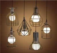 super bright vintage led pendant lights industrial lighting cafe bar bedroom restaurant living room birdcage pendant light hanging lamp buy pendant lighting