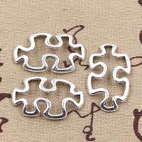 Wholesale 100pcs Charms jigsaw puzzle mm Antique Zinc alloy pendant fit Vintage Tibetan Silver DIY for bracelet necklace