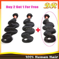Natural Color brazilian human hair - Clearance Sale Buy Get FREE Hair A Virgin Brazilian Human Hair Extensions Body Wave Dyeable Hair Weave Full Head