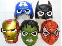 april resins - LED Film Mask American Superhero Iron Man Batman Hulk Captain America Spider Man Mask Glow Flash Halloween Children Mask Carnival B228