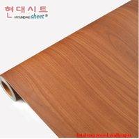 wood furniture kitchen - wood grain HWN5 Boeing film waterproof kitchen home decor PVC adhesive wallpaper living furniture bedroom Wardrobe renovation wall stickers
