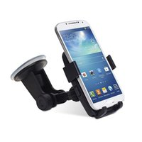 Wholesale Universal Mobile Phone Holder Car Bracket for Samsung Galaxy S4 S5 for iPhone S S Plus GPS PDA Degree Rotating