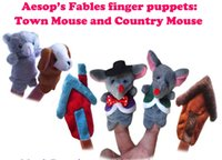 baby town - Newest Baby Plush Finger puppets Toy Town Mouse and Country Mouse pieces group