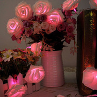 Wholesale 3Meter LED Rose Flower Fairy String Lights Wedding Party Xmas Decoration Pink strip light Christmas Decoration LED Light Romantic Design