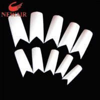 Wholesale 500PCS PACK Beauty V Shapes French Nail Tips White ABS False Nail Tips sizes Fake Nails Maincure