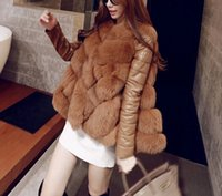 Cheap 2015 winter high fashion women's luxurious faux fur coat Socialite thick warm leather jacket parkas Top quality for lady