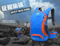 Wholesale 2015 new Professional cycling backpack lightweight waterproof outdoor mountaineering bags L bike green blue orange black wine Rose Red pur
