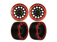 alloy beadlock wheels - 4 Alloy beadlock Crawler wheels rims for RC4WD SCX10 CC01