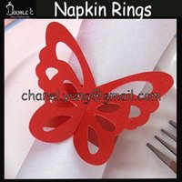 Wholesale HOT Butterfly Paper Napkin Rings Enchanted Laser Cut Napkin Rings Wedding Party Decoration Tools Napkin Decoration