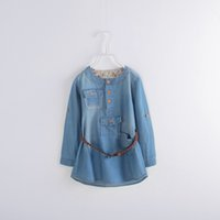 clothes europe - 2015 autumn Europe and America children dress Child Clothing Girl Casual Long Sleeve Lace Dress for Kids