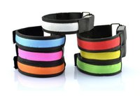 wrist support - LED Flashing Warning Arm band Safety ArmBand Wrist Support Strap for Outdoor Sports Party