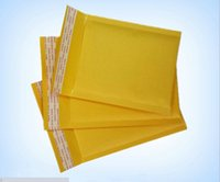 Wholesale 150 mm kraft paper bubble envelope bag yellow postal parcel courier bags seismic compression foam bags