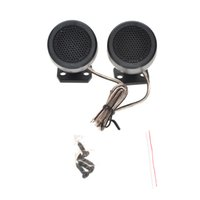 Wholesale 1 Set Car Styling Loud Speaker TP A PMPO W RMS W In Car Mylar Balanced Dome Tweeter Pair With Crossover Universal