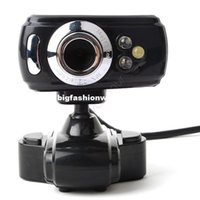 Wholesale 2014 New Arrival USB HD Webcam Camera Web Cam Digital Video Webcamera with MIC for Computer PC Laptop Black