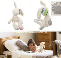 other Plush Unisex Free shipping brand rabbit bunny high quality safety baby toy, doll,Comforter Toys, children,sleep partner, for girls boys, gift