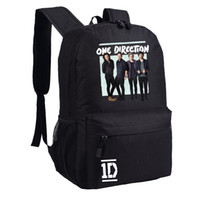 backpack for teens - 2016 One Direction Backpack d Bag for School Girls Boys Black Bags for Teens one direction merchandise without zayn