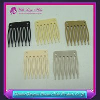 plastic hair comb - Wig Accessories Seven tooth plastic comb cm cm Hair Wig Combs and Clips For Wig Cap