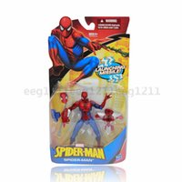 Wholesale Amazing Spider Man comic book hero Spider Man doll model toys movable joints launch weapons children toy gift