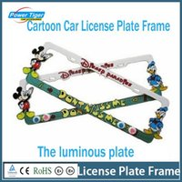 Wholesale Car Styling pair Car Universal Cartoon Car License Plate Frame Luminous License Plate Car Number Plate License Plate Holder