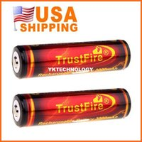 Wholesale USA Fast High Quality Trustfire Battery PCB Protected V mAh Rechargeable Battery pairs