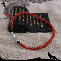 Wholesale Handmade Anklets Natural Agate Crystal Fish Tibetan Silver Unique Fashion Jewelry