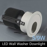 Wholesale 5W W COB LED ceiling recessed wall washer downlight with COB LED mm hole
