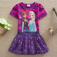 teen clothes - Summer Short Sleeve Girl Dress Lace TUTU Stripe Teen Girls CLothes HIgh Quality