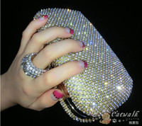 best price diamond rings - New Women clutch Full Luxurious Diamond Knuckle Rings Evening Bags Day Clutches purse Best Price Bling Bag