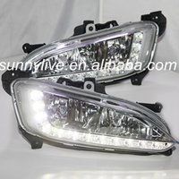 Wholesale FOR HYUNDAI TO Year IX45 New Santa Fe LEDs DRL Daytime Running Light Chrome Hosuing