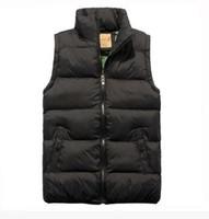 Wholesale Lover Vest Men Winter Coat down vest Mens Vest Male Hooded Vests Men Women Cotton Padded Sleeveless Jacket Man Waistcoat