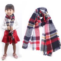 Wholesale 2015 New Autumn Winter Children s Cashmere tartan plaid Scarf Kids Boys Girls Designer Bufandas blanket Scarves Shawls AL S240