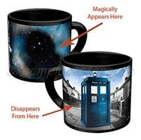 awesome coffee mugs - doctor who mug disappearing tardis mug with original box awesome heat sensitive police coffee cup doctor who disappeared color change mug