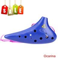 Wholesale 12 Hole Ocarina Ceramic Alto C Legend of Zelda Ocarina Popular Musical Instrument As Gift