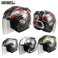 helmets - SOL SDJ Motorcycle Helmet Cross country Highway Racing Motorcycle Security Half helmet Helmet Running Helmets Half helmet Men