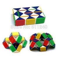 Wholesale New Funny Magic Snake Shape Toys Game Segment Cube Puzzle Toys Gift For Kids Child Boys Girls
