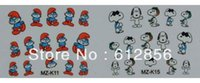animations nail designs - Freeshipping D Design children s cartoon animation Creative Nail Sticker Decal Manicure Mix Designs