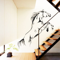animals horses wallpaper - Black Jumping Horse Wall Stickers Removable Wallpaper for Sofa Television Vinyl Art Wall Decals Stylish Graphics Home Decoration Poster