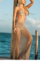 Cheap vestidos Summer Beachwear Tan Fishnet Beach Skirt LC41100 women clothing new 2015 beach dress bathing suits swimwear monokini