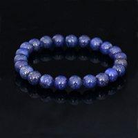 amethyst bracelet - Natural stone Crystal bracelet MM Amethyst Lapis Lazuli Agate Round beads bracelet semi precious stone jewelry women and men