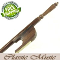 african blackwood - African Blackwood Baroque Viola Bow with Long Screw Good Mongolian Horse Hair