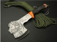 axe head - Multi purpose camp axe tiger wolf head pattern hatchet mountain axe AX outdoor camping supplies