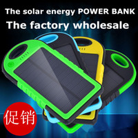 best usb solar charger - NEW for iphone solar power bank power case5000mAh dual USB port external battery charger water proof solar power bank best christmas gift