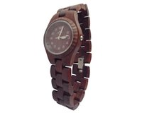 Wholesale THY Fashion W00026 Women s Wooden Watches Red Round Red Wooden Watches Dial Ladies Wood Watch with Mm Size